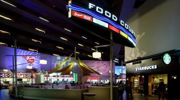 The Food Court inside the Luxor