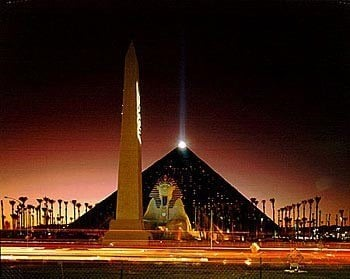 Many guests have reported ghost sightings at Luxor casino.