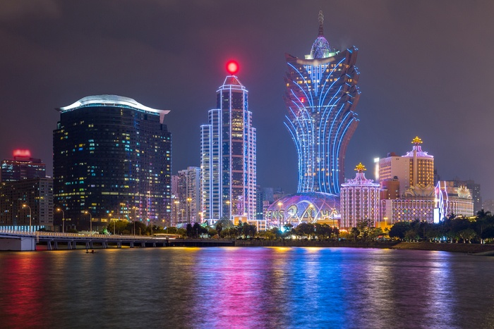 A picturesque image of Macau at night