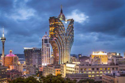 Night time in the heart of Macau