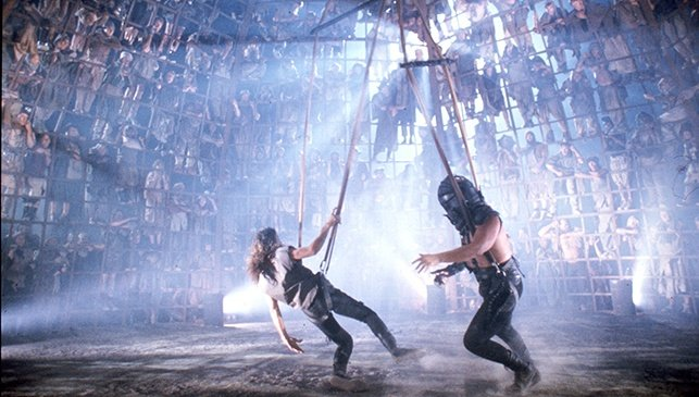An image from a Thunderdome fight in Mad Max