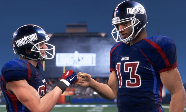 Game play from the Madden 18 Longshot story mode