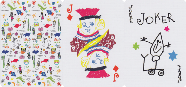 Playing cards created by children