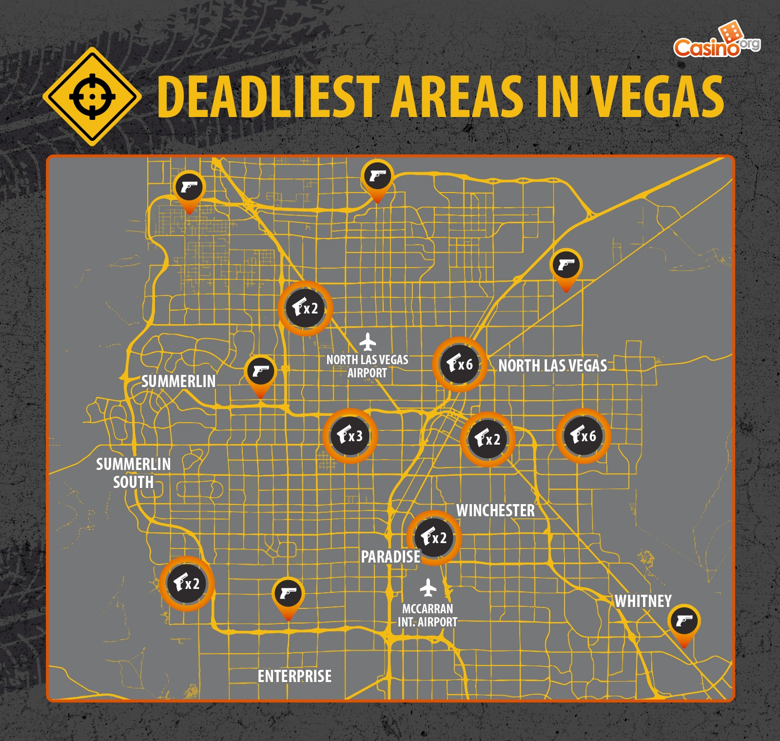 The deadliest areas in Vegas