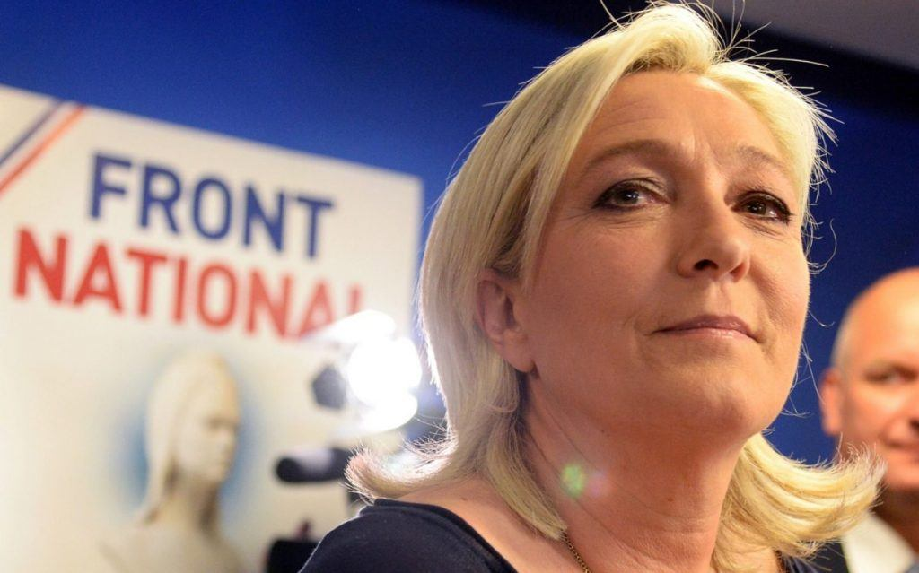 Marie Le Pen standing in front