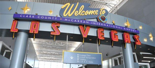 Inside the McCarran International Airport