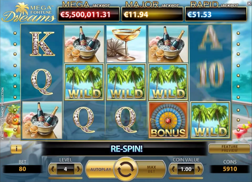 Mega Fortune Dreams casino jackpot slot