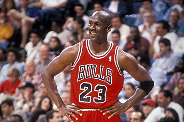 Michael Jordan playing for the Chicago Bulls
