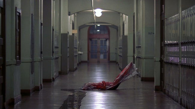 The hallway from Dell H. Robison Middle School that had a mysterious spirit