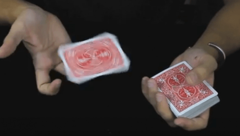Spin cards on your fingers