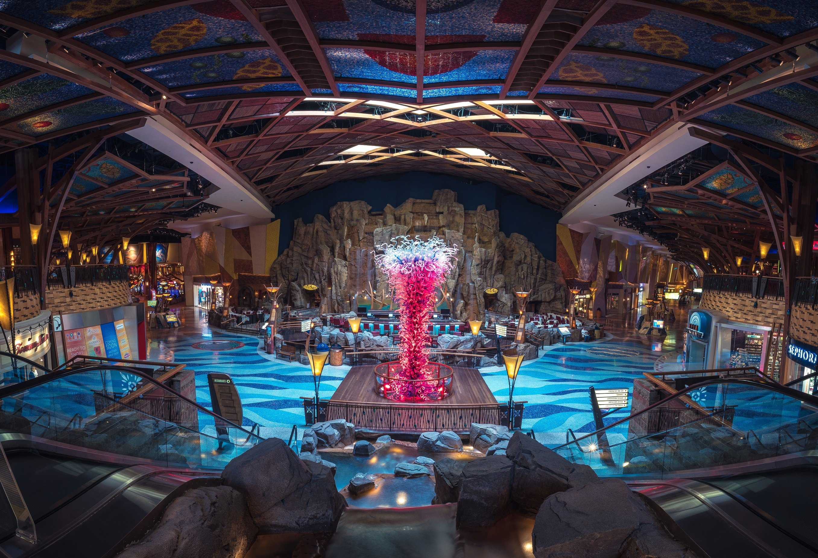 Inside the Mohegan Sun Casino and Resort