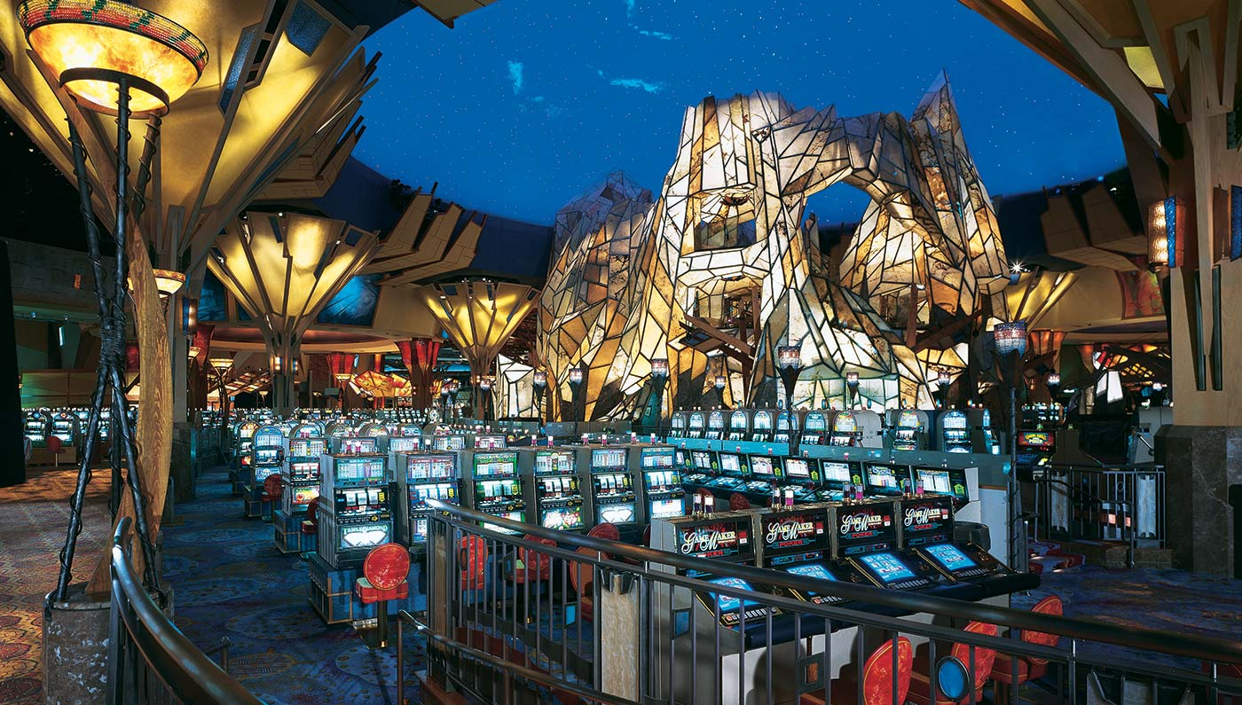 Mohegan Sun has a Native American theme and is located in Connecticut