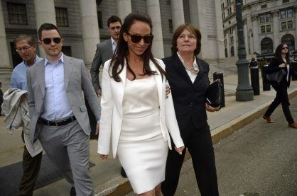 Molly Bloom on her way out of court
