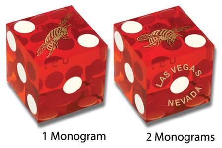 Monogram Dice used in casino games
