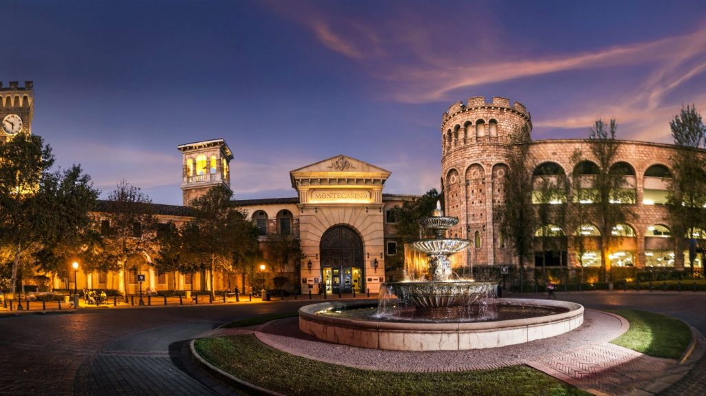 The beautiful Montecasino in Johannesburg