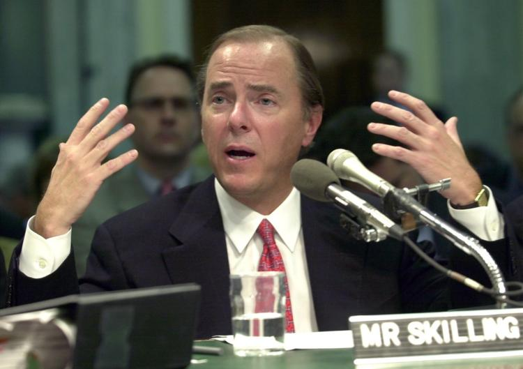 A photo of Jeffrey Skilling, the former CEO of Enron