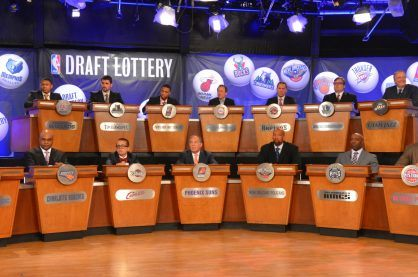 The NBA Draft Lottery that decides the order of the draft