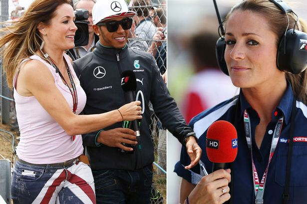 British TV presenter and Formula One pit lane reporter