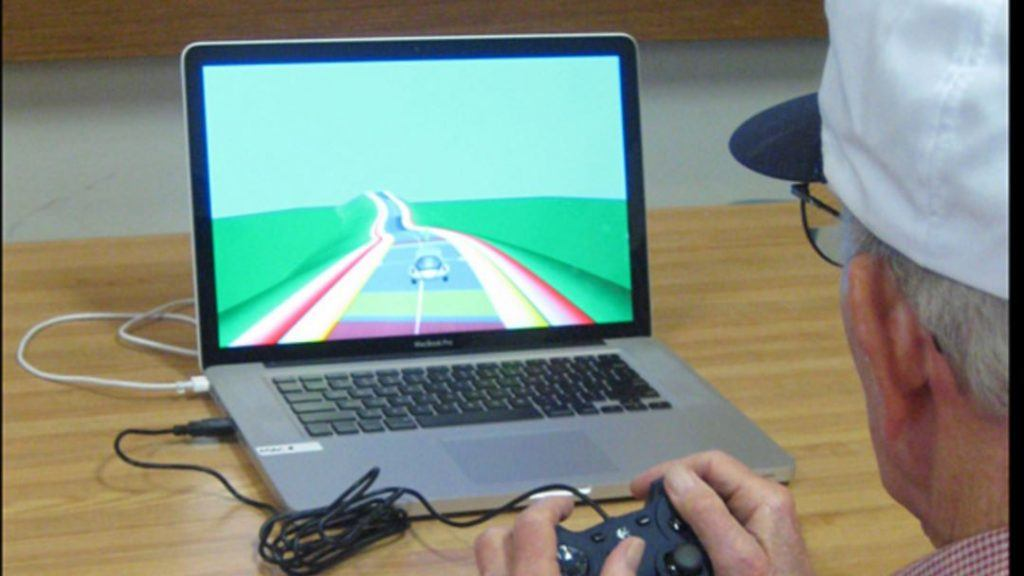 Older people training their brain by playing NeuroRacer