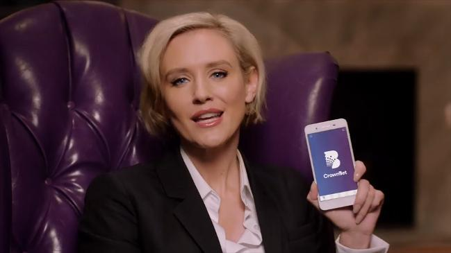 Australian actress Nicky Whelan was the face of CrownBet