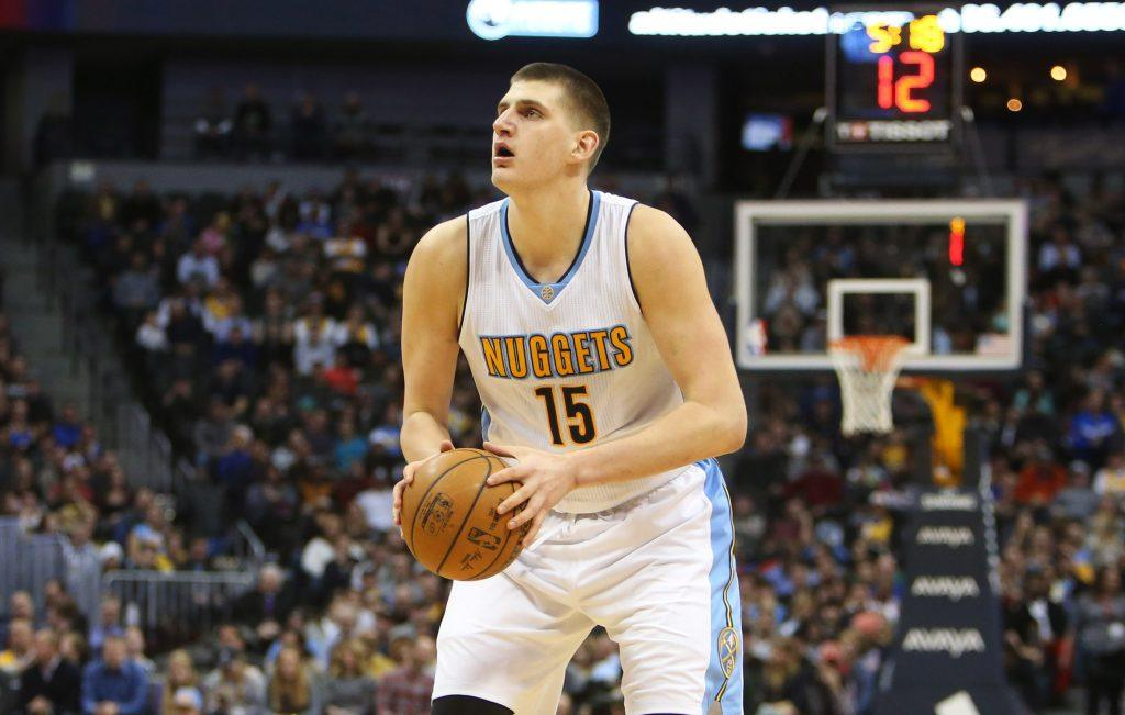 NBA star Nikola Jokic, center/forward for the Denver Nuggets