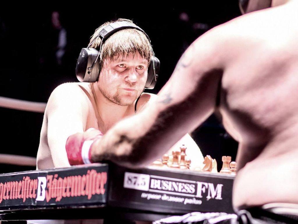 A photo of Nikolay Sazhin, a famous Chess Boxer