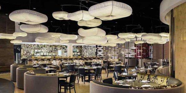 Inside Nobu, a popular restaurant at Caesars Palace, Las Vegas