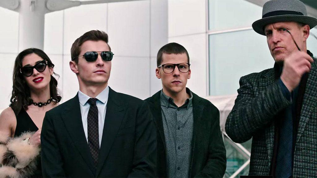 The four main actors from the movie Now You See Me 2