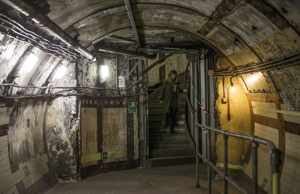 An image from the inside of a nuclear bunker