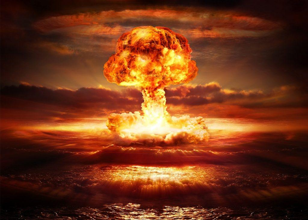 The initial impact of a nuclear bomb