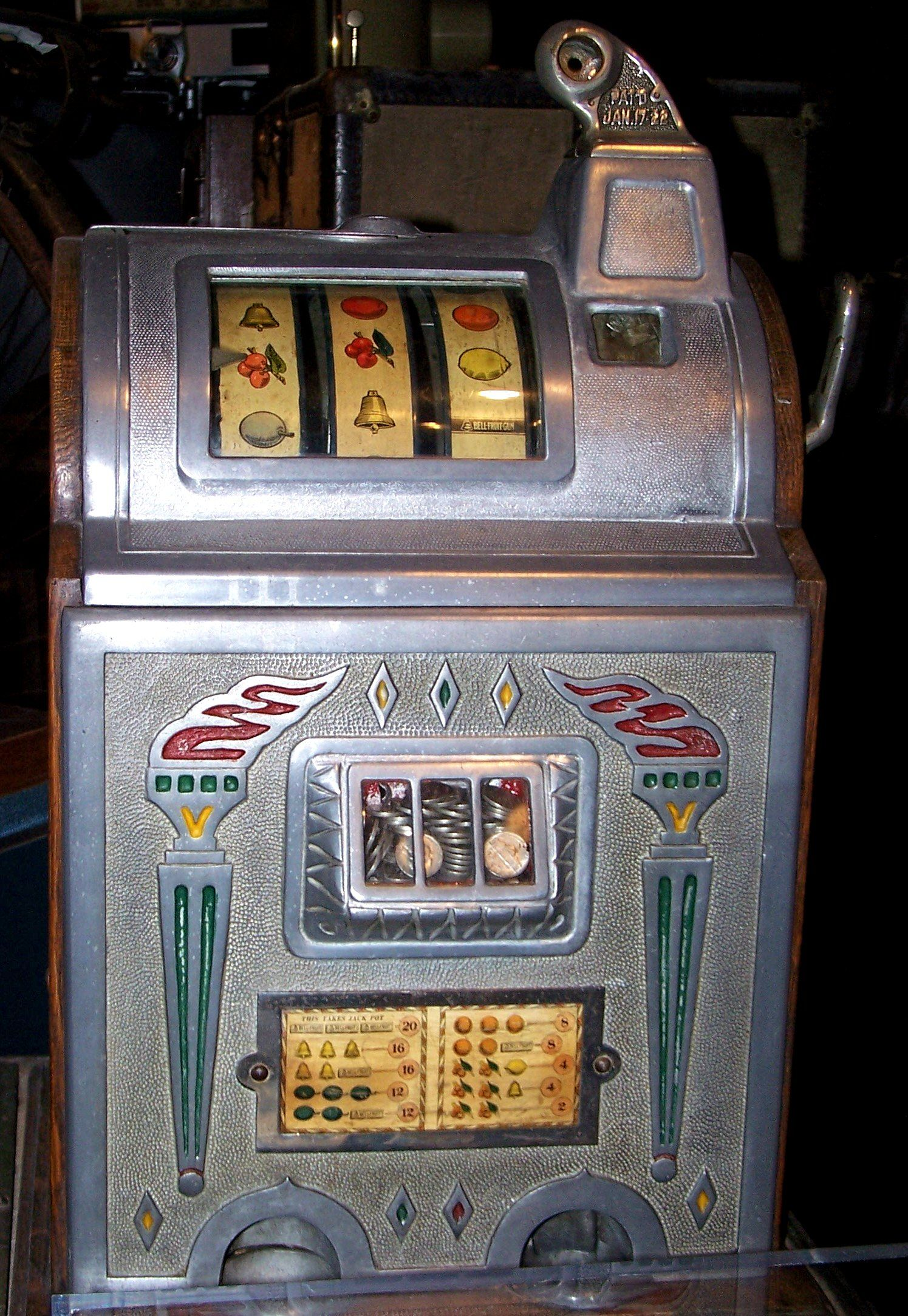 Old slot machine.