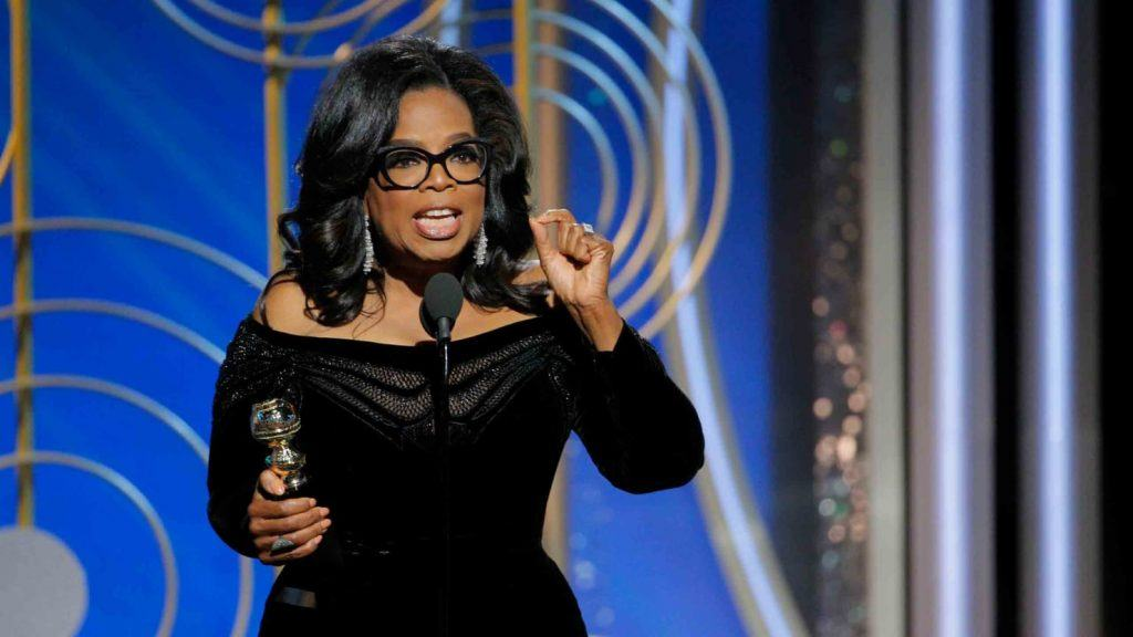 Oprah Winfrey speaking at an awards show