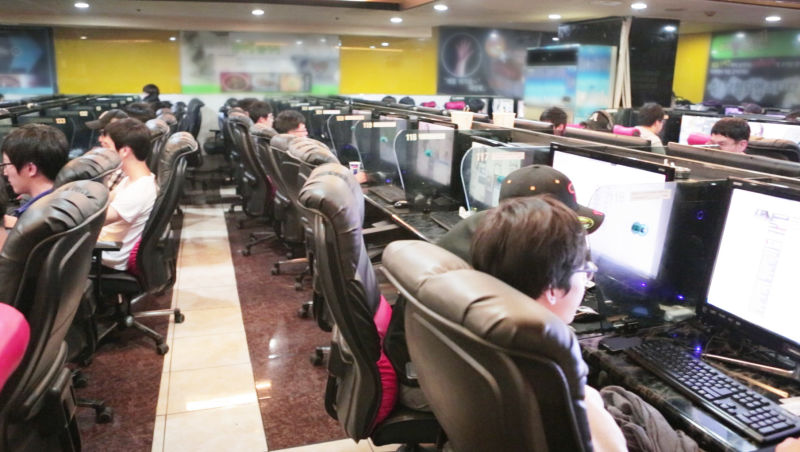PC Bangs are internet cafes where South Korean's can go to play games