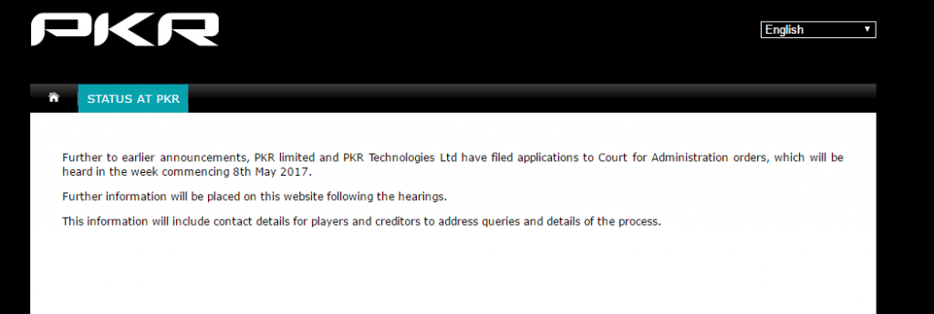 statement from PKR about bankruptcy