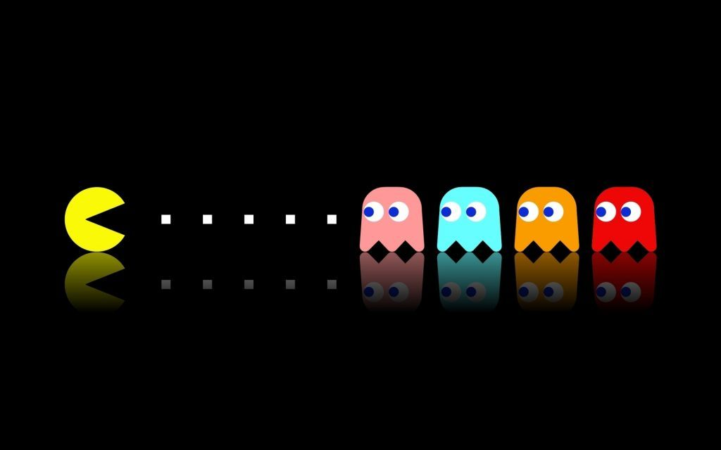 The characters from the iconic arcard game Pac-Man