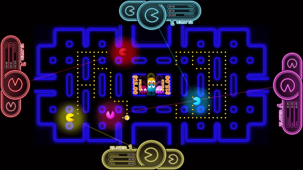 In-game action from Pac-Man battle casino