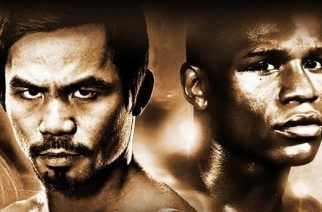 The fight of the century: Mayweather vs Pacquiao (Image: mayweathervspacquiaotickets.com)