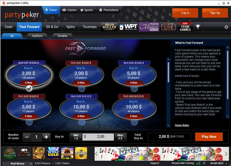 PartyPoker speed poker