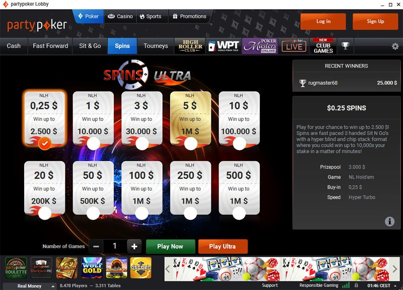 PartyPoker tournaments