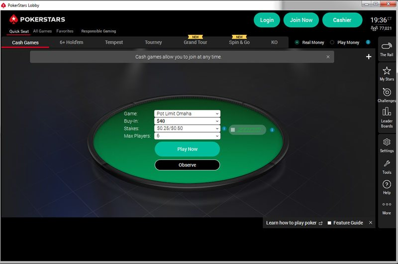 PokerStars client