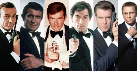 James Bond by the generation
