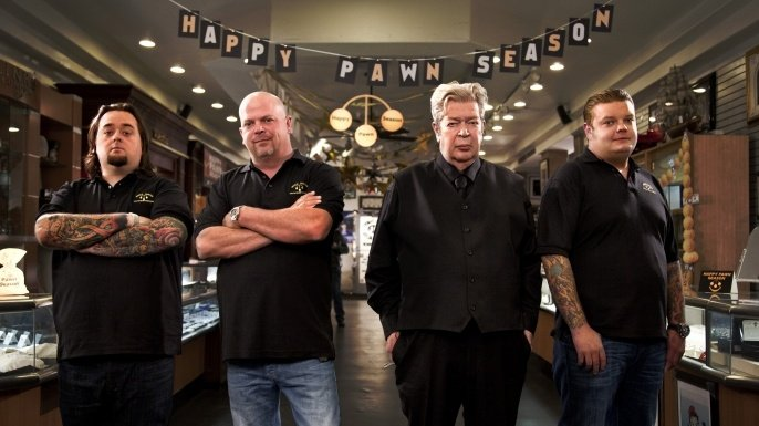 An image of the stars of the hit TV show, Pawn Stars