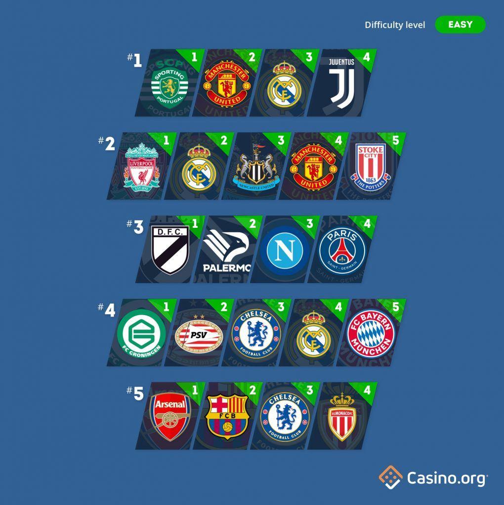 Casino.org football quiz - easy round