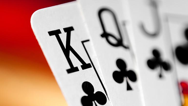 Playing cards used in the game Kaluki