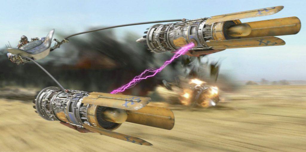 An image of Anakin Skywalker's Podracer
