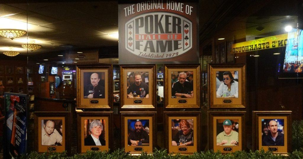 An image of some of the members of the Poker Hall of Fame