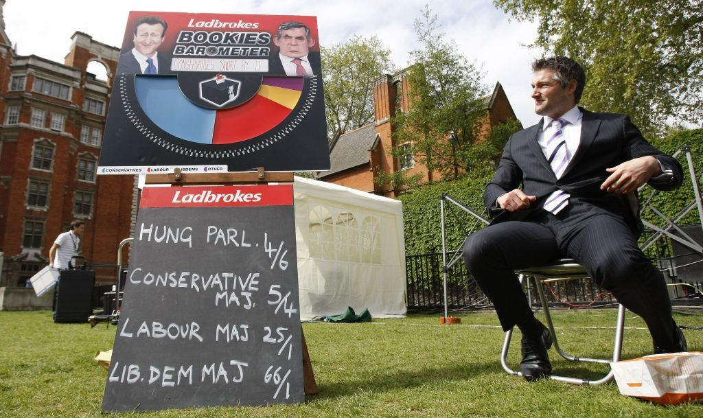 Odds on the British election