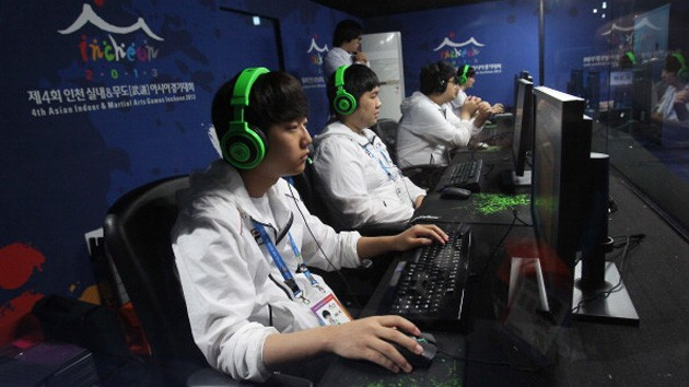 Professional South Korean team competing at an event