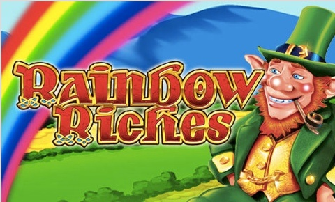 The Rainbow Riches slot machine logo