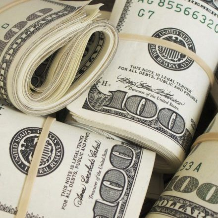 Rolls of American dollars